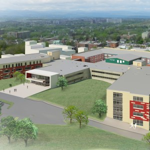 Rendering by KSQ Design of Kingston High School