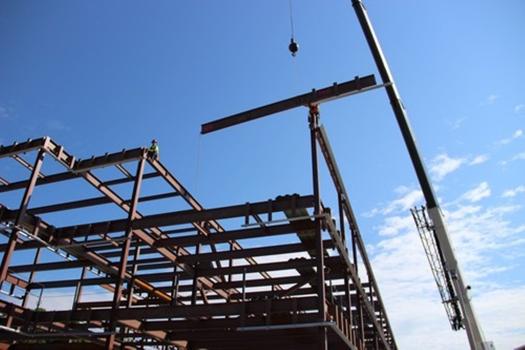 Topping steel beam