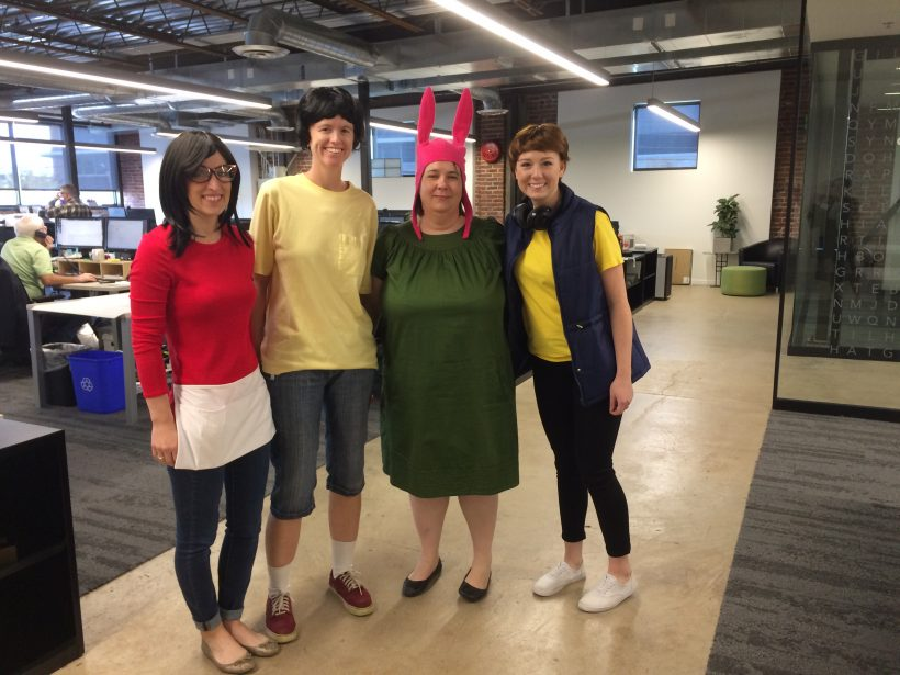 A very close second to Best Group Costume was Tulsa's Bob's Burger crew which included Erin Courtney, Lori Botchlet, Nancy Pounds and Kaitlin Voska.