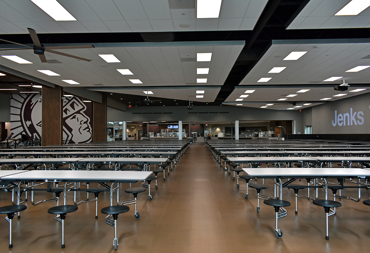 Case study jenks high school dining hall case study for Home dining hall design