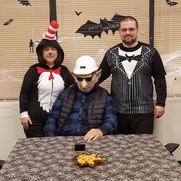 Dr. Seuss (Marisela), Construction Troll (Armando) and Jack Skellington were fun additions to the day from our Dallas office.